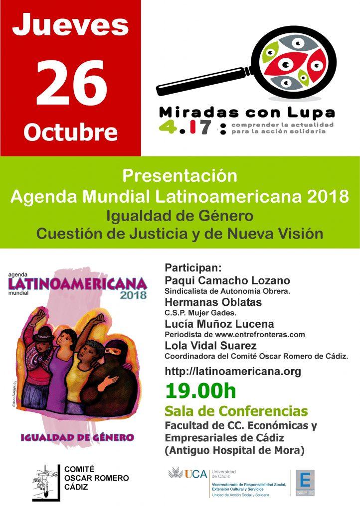 26 de octubre. Presentación de la Agenda Latinoamericana 2018. Ciclo Miradas con Lupa 4.17
