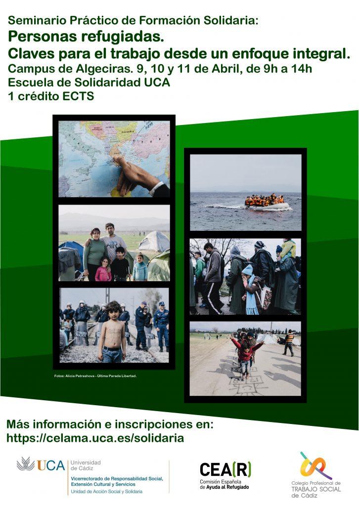 """Seminario """"Personas refugiadas: Claves para el trabajo desde un enfoque integral"""".Campus de Algeciras 9, 10 y 11 de abril."""