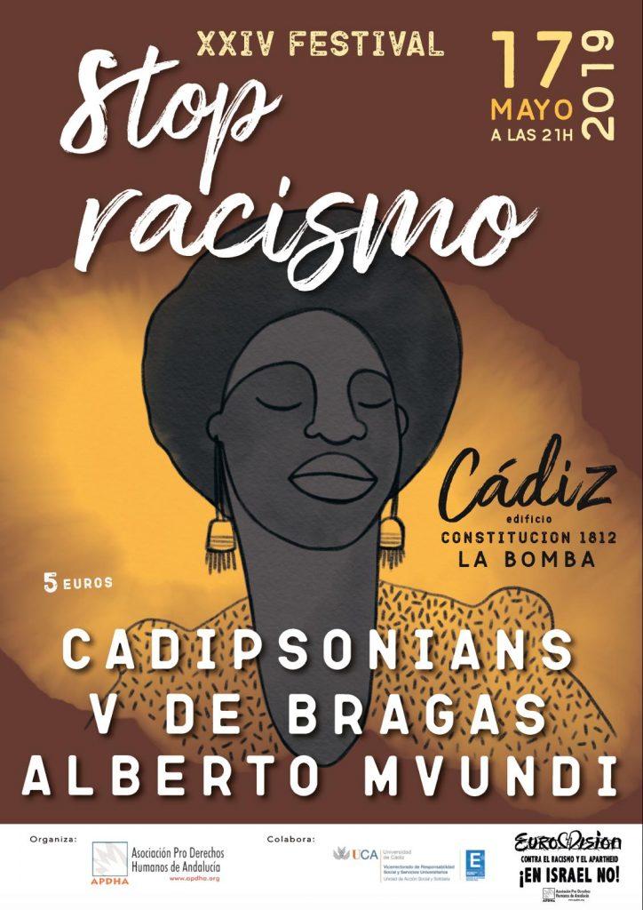 17 de mayo. Cádiz. 21 horas. XXIV Festival Stop Racismo