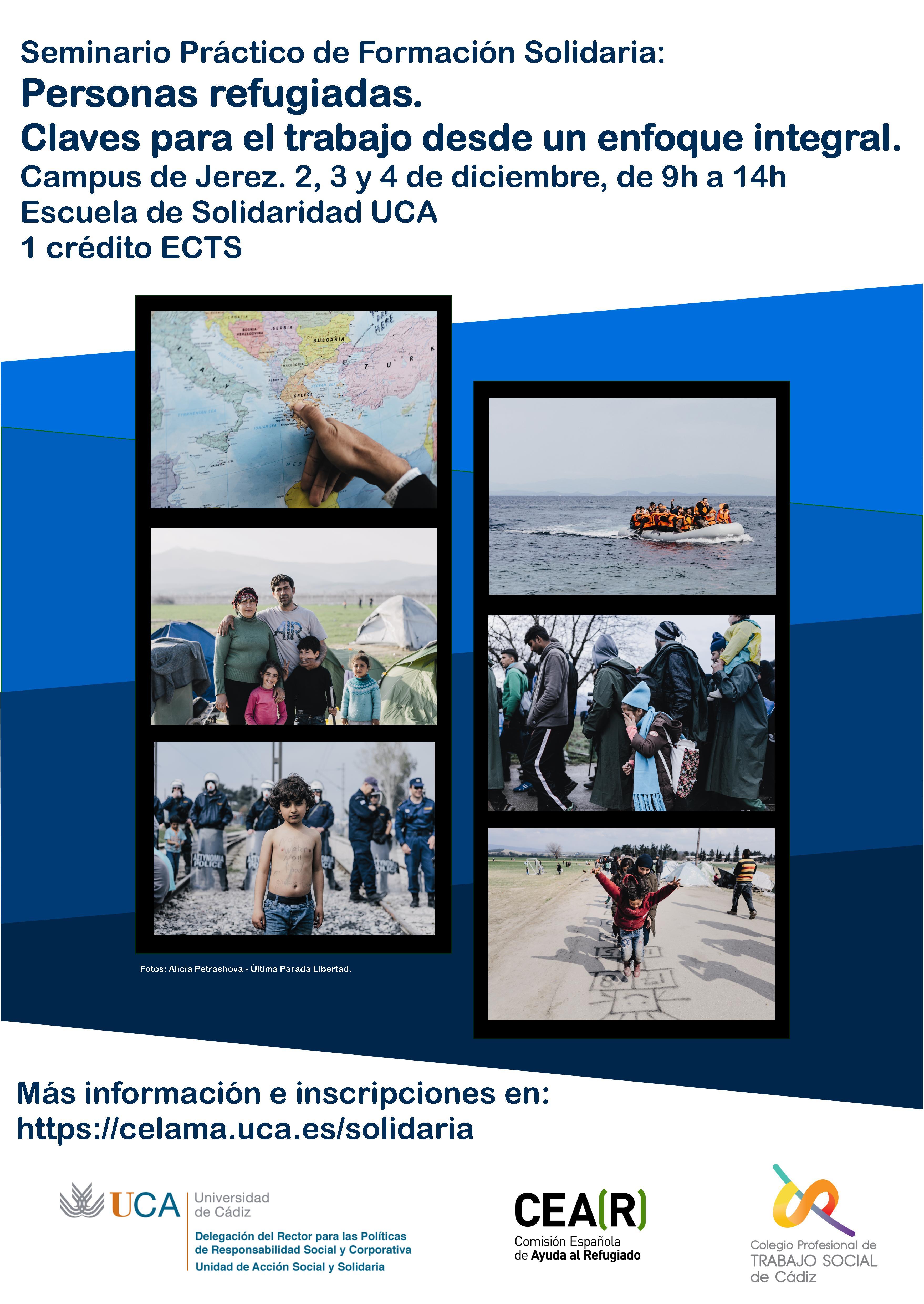 """Seminario """"Personas refugiadas: Claves para el trabajo desde un enfoque integral"""". Campus de Jerez 2, 3 y 4 de diciembre."""