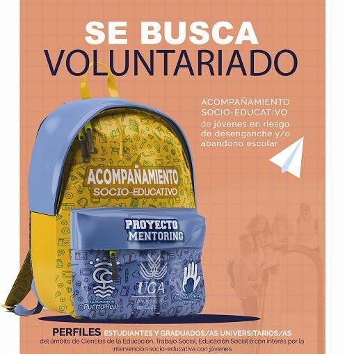 Voluntariado en Intervención Social: Programa de Mentores en Centros Educativos de Puerto Real. Del 12 de noviembre al 15 de junio.