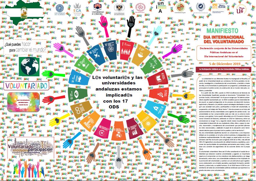 Declaración conjunta de las Universidades Públicas Andaluzas en el Día Internacional del Voluntariado 5 de diciembre