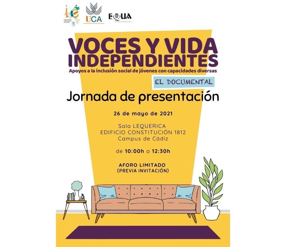26 de mayo. Jornada Voces y Vida Independientes.